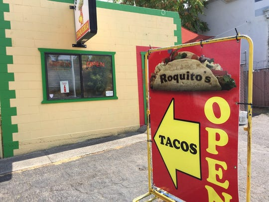 Entrance to Roquito's Taqueria on South Market Street.