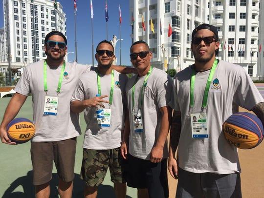 The Guam National Basketball team in Ashgabat, Turkmenistan