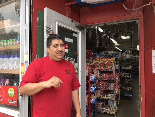 Daniel Sanchez of Patri Meat Market in Passaic talks
