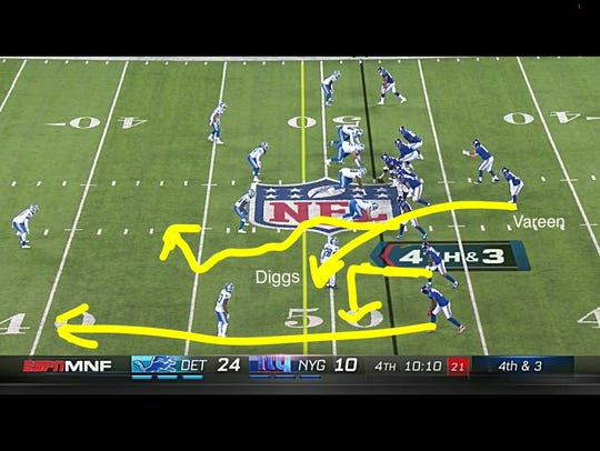 Another screen grab of the critical fourth-down play