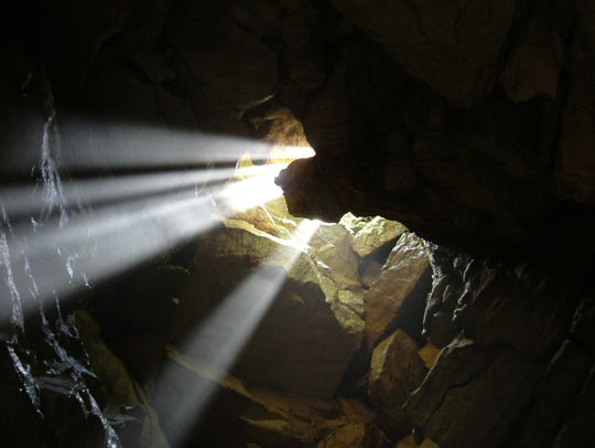 Wesley Chapel cave in the Hoosier National Forest.