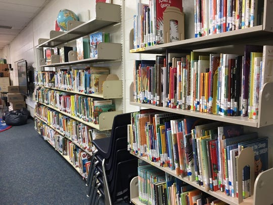 The school library at Natches Elementary.