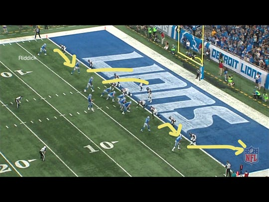 First and goal for the Detroit Lions in their 30-26