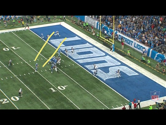 Second and goal for the Detroit Lions in their 30-26