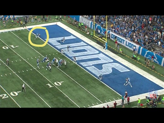 First and goal for the Detroit Lions in their 30-26 loss to the Atlanta Falcons.