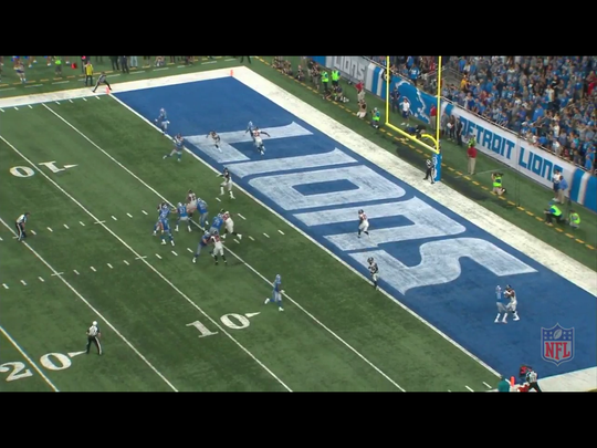 Third and goal for the Detroit Lions in their 30-26 loss to the Atlanta Falcons.