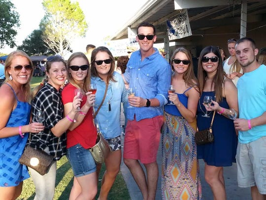 Patrons enjoy a recent festival at La Viña Winery.