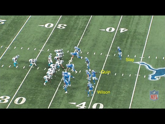 The Carolina Panthers' second long pass to Ed Dickson