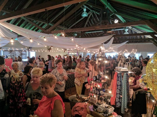 Guests enjoy the evening Paris-style market at The