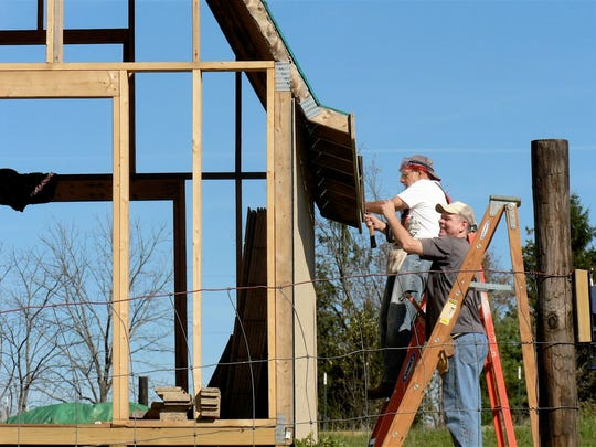 Building a new gardening shed for the campers that will hold gardening equipment and have a greenhouse feature as well.