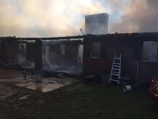 Three Madison fire departments worked to extinguish