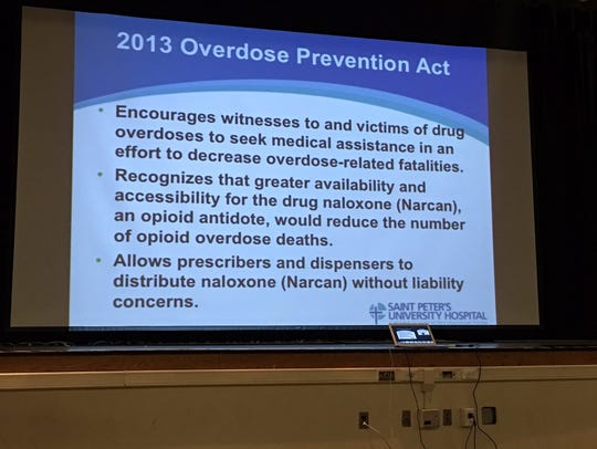 Sign about the Overdose Prevention Act.