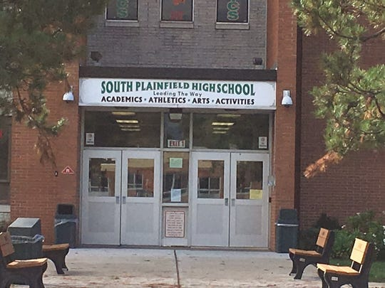 Entrance to South Plainfield High School.