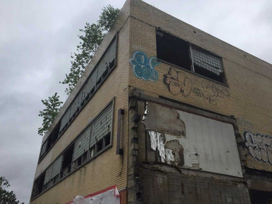 A demolition campaign in Camden brought down this building