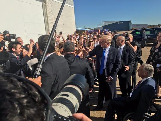 Trump in dallas