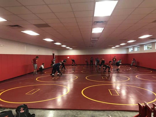 The new Mater Dei wrestling room.