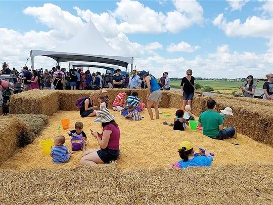 The super big corn box - fun for all.