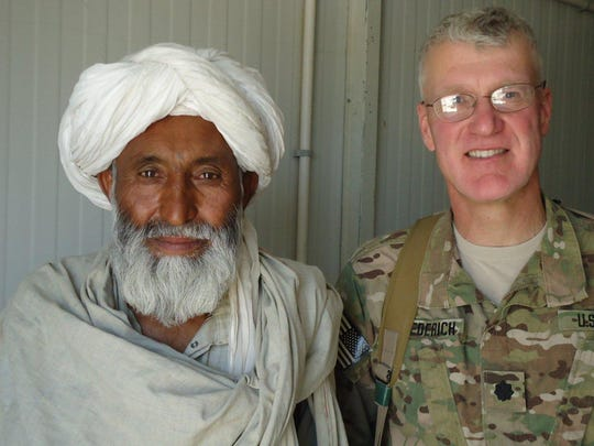 Army Lt. Col. Michael Diederich Jr., a Stony Point attorney, was stationed at Kandahar Air Field, the largest NATO base in the world, as a judge advocate general officer. He is seen here in summer 2012.