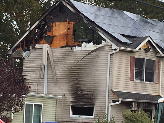 Fire damage to Edison home on Winthrop Road