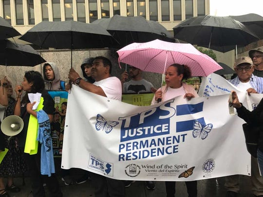 Immigrants and advocates rallied in Newark in August on behalf of immigrants with Temporary Protected Status.