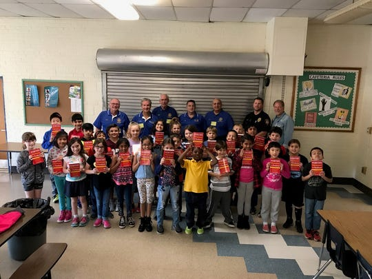 Hillsborough Elementary School third graders pose with