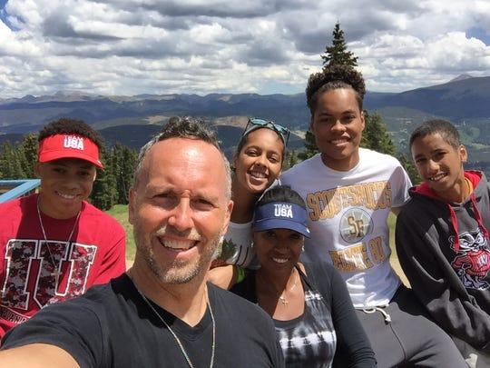 James Quigley and his family during a 2016 vacation in Colorado.