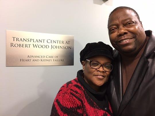 Joseph Johnson, a heart transplant recipient, and his
