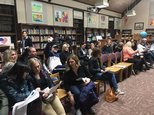 About 50 residents attended the Ho-Ho-Kus school board