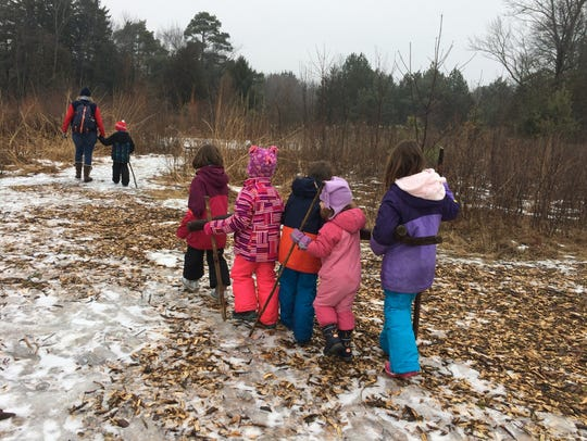 Amber Storm loves taking her four children on hikes, even in winter.