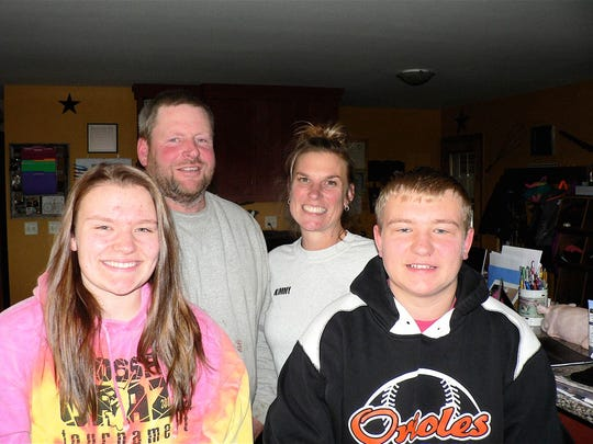Kurt and Kim Flannery and daughter Breann and son Hayden. Missing from photo is son, Payton.