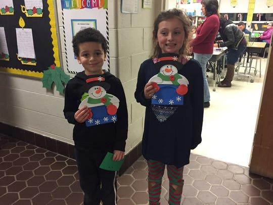 The children enjoyed making snowman photo frames during