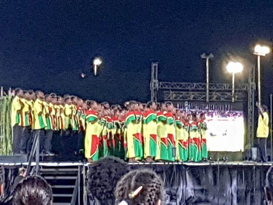 Sights from the opening ceremonies of the 10th Pacific  Mini Games in Port Vila, Vanuatu. Guam will participate in four of the 24 sports offered at these Games.