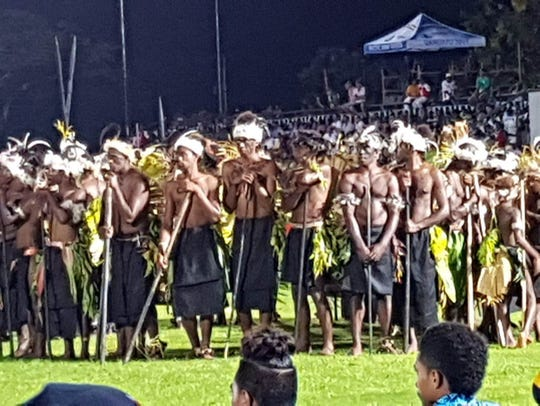Sights from the opening ceremonies of the 10th Pacific