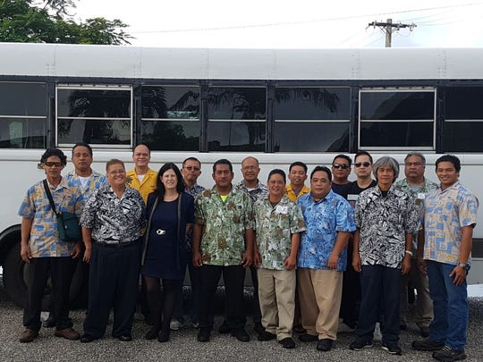 Kloppenburg Enterprises, Inc. with Guam Sanko Transportation and Micronesian Hospitality, Inc. completed a 16 Hours Passenger Assistance Training at the Guam Community College on Oct. 28 and Nov. 4. Pictured front row from Left: David Mesa, Therese Aguon, Instructor Dr. Kari Perez, Amon Angei, Connie San Nicolas, Allan Paciente, Francis Gatmen, and Ryan Blas. Back row, left to right, Josa Elpet, Joi Bonita, Edgar Lodovica, Marcos Ando, Jason Sablan, Glenn Gogo, Dominador Miranda Jr., and Joey Tibajares. Not pictured Michael Johnson.