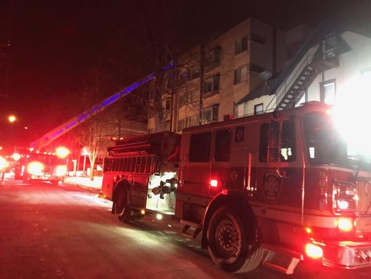 A fire was contained to a utility room on the fifth