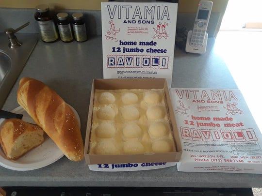 Frresh cheese ravioli at Vitamia and Sons
