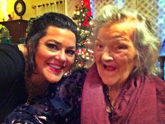 Rose Mary Chivers and granddaughter Christine Cashion Lamb
