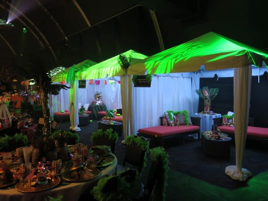 Private cabanas at Krewe Justinian Grand Ball were sold out and made  a new edition to the Mardi Gras grand bal scene.