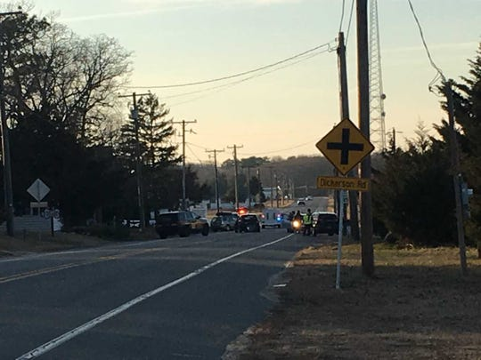 Site of a motor vehicle collision along Lighthouse Road on Feb. 6, 2018.