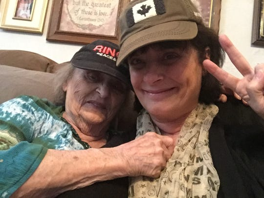 "Britt Kennerly and Helen Harney, aka ""Mommy,"" clown around for a selfie in April 2017."