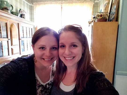 Katie Blunck, right, is a 32-year-old teacher in Sioux