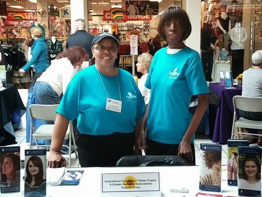 Marilyn Siblely, left, helped her sister Rosa Johnson