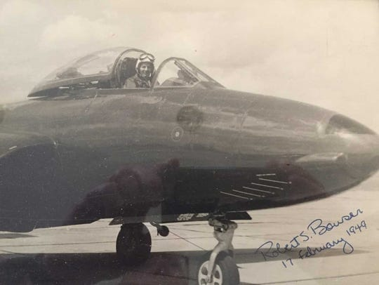 Robert Bowser was a test pilot in the Navy and flew