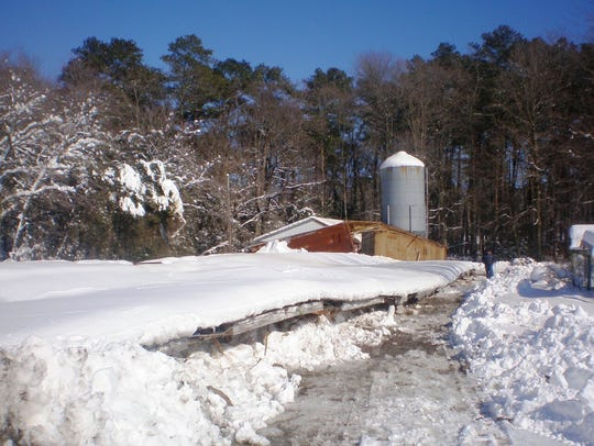 The Baker's Acres Farm in Millsboro had a chickenhouse collapse in 2010 during a winter storm.