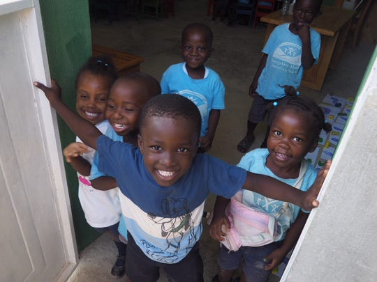 Church members were happy to see all the smiling faces during their Haiti trip.