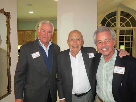 George Nelson, Sidney Kent, Carl Pendley pause to pose at Symphony Gala Kick-Off Party.