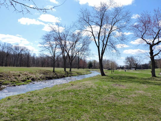 Goffle Brook Park features a beautiful stream and wide paths.