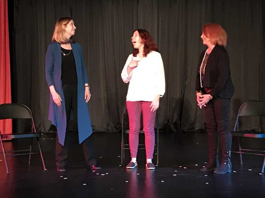 "Martha Day, Lyle Landon and Tara Moran act in ""An Embarrassment"