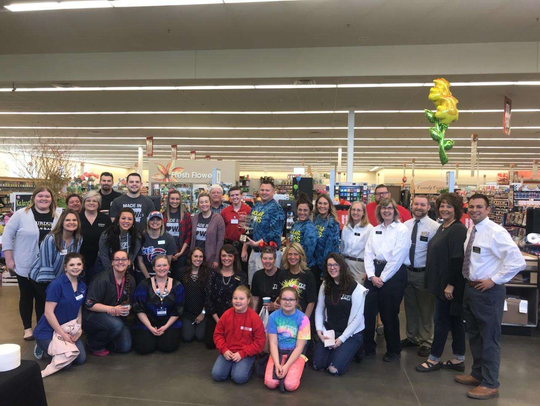 Nine teams participated in this year's grocery grab