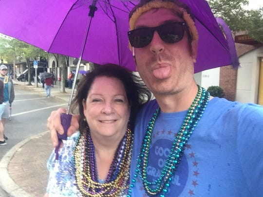 Rain or shine, mom and I always make it to Springtime Tallahassee together. We toughed it out this year in the pouring rain.